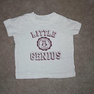 """4/$20 Carter's boy t-shirt """"Little genius"""""""
